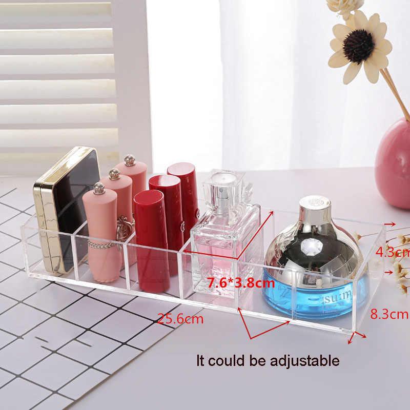 Clear Acrylic 6 Grids Makeup Organizer Blush Lipstick Holder Makeup Compact Powder Storage Box Eyeshadow Organizer Cosmetic Case