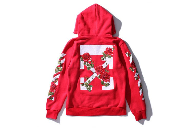 Aolamegs Men Hoodies Fashion Vintage Floral Embroidery Cardigan Jacket Hooded Zipper Outwear Off White Couples Red Black Hoodie (15)