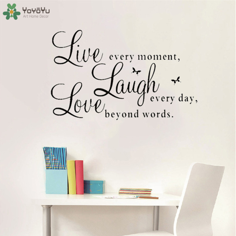 57x35cm Live Laugh Love Quotes Wall Decals Home Decorations Living Room Bedroom Poster Removable Diy Wall Stickers Yo 160 Wall Stickers Aliexpress