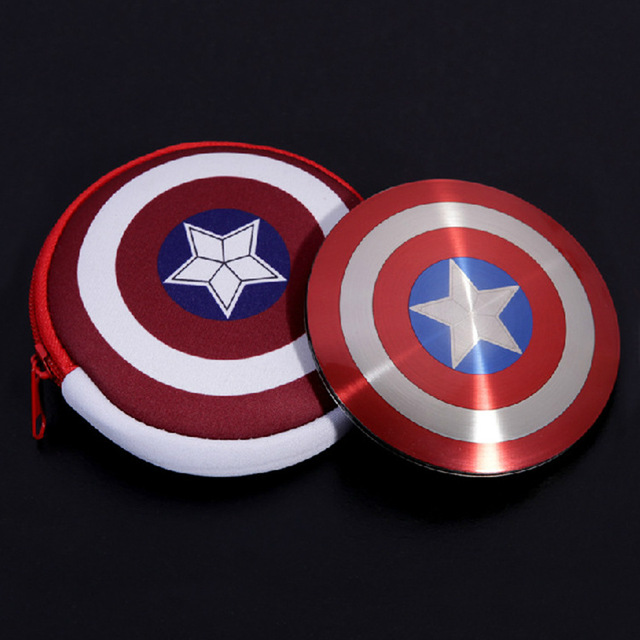Captain America Shield mobile power bank 6000mAh capacity portable battery charger