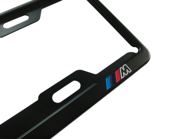 M-Power Style Metal License Plate Frame 1 2 3 4 5 6 7 Series M3 M4 Fit For BMW