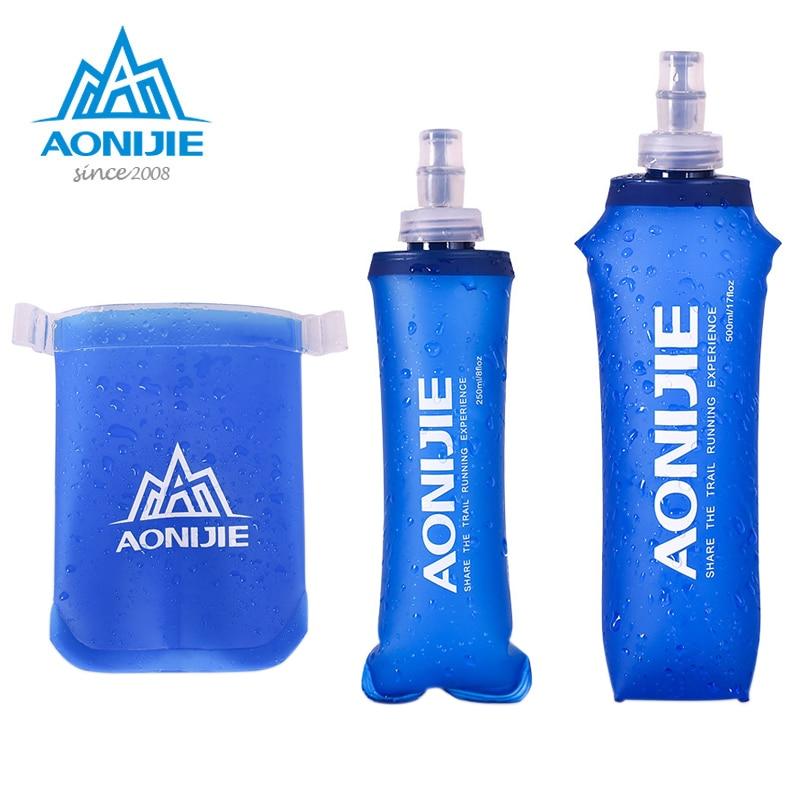 Water Bottle Running Camping TPU Water Bag 170ml 250ml 500ml Foldable Soft Flask Outdoor Sport Camping Climbing Drink Water Bag