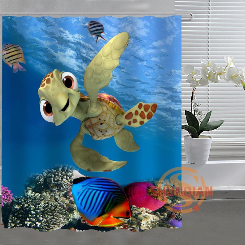 Nemo Little Turtle Custom Shower Curtain Bathroom Fabric For Bathroom Decor Bathroom Curtain Acceptable Custom H03t26f66