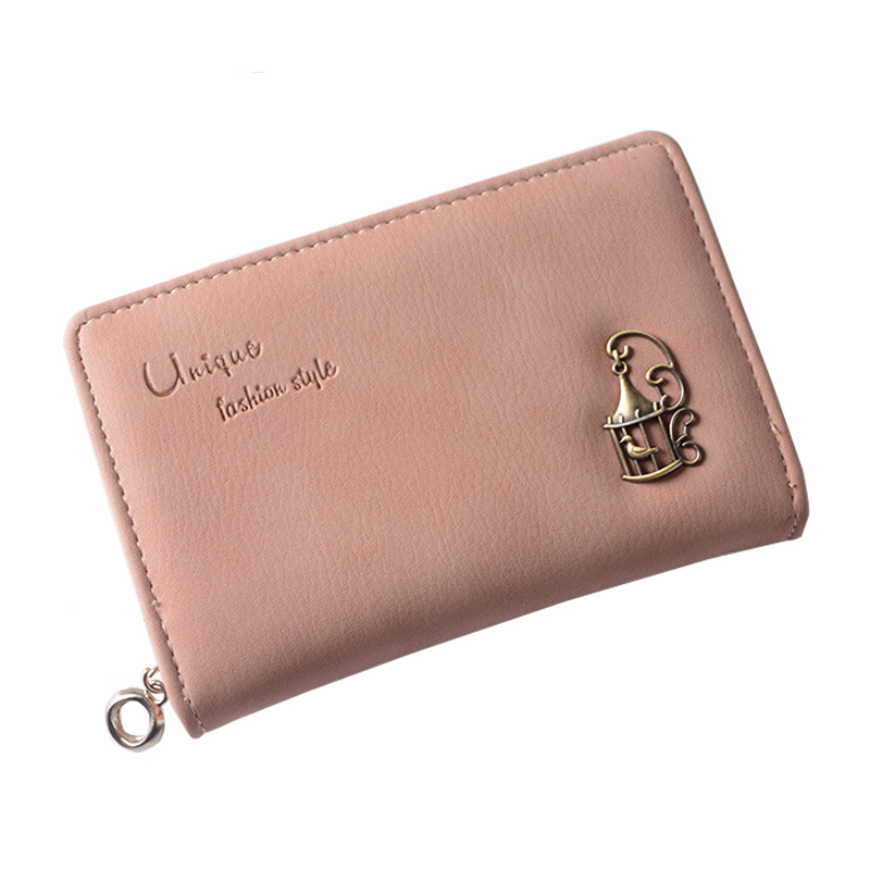 Wallet Female Women Purses Leather Wallets Ladies Small Card Photo Holder High Quality Printing Fashion Solid Women Coin Purse 2017 women wallet genuine leather high quality hasp coin purse 100% cowhide fashion female clutch purses card holder wallets