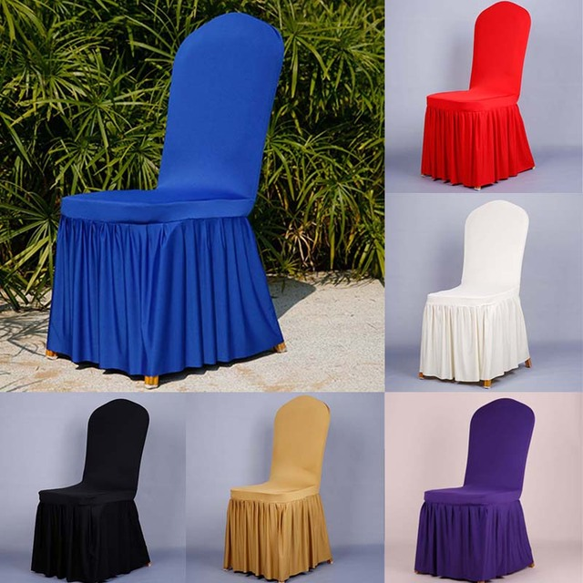 Chair Covers Universal Makeup Vanity Chairs Varmhus Wedding Polyester Spandex Foldingpleated Seat Cover Dining Room Party Banquet Decor