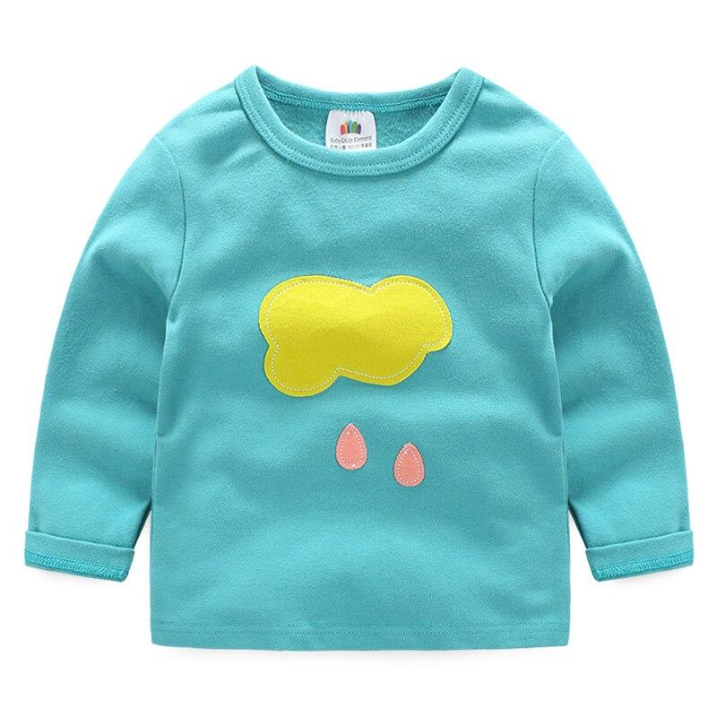 Baby boy girl t-shirt 2018 autumn children's clothing child 100% High Quality Cotton casual long-sleeve basic shirt
