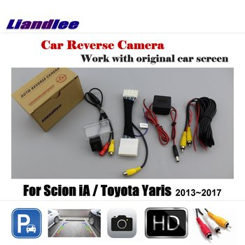 Liandlee Car Reverse Rearview Camera For Toyota Yaris 2013~2017 Original Screen / HD CCD Backup Parking Camera image