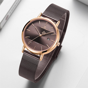 Image 4 - NAVIFORCE 女性の腕時計トップブランドの高級ステンレス鋼腕時計ローズ時計スタイリッシュな 2019 を見て
