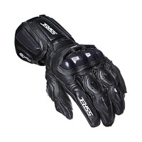 SSPEC New Black Carbon Fiber Motorcycle Gloves Leather Men Cycling Racing Guantes Moto Guante Para Leather