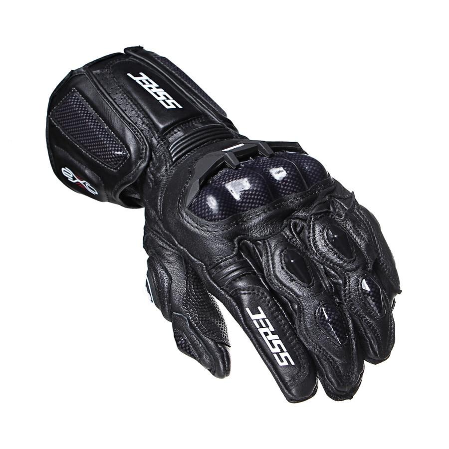 SSPEC New Black Carbon Fiber Motorcycle Gloves Leather Men moto Cycling Racing Guantes Moto Guante Para Leather Motorbike M-XL moto m xt1663 gold