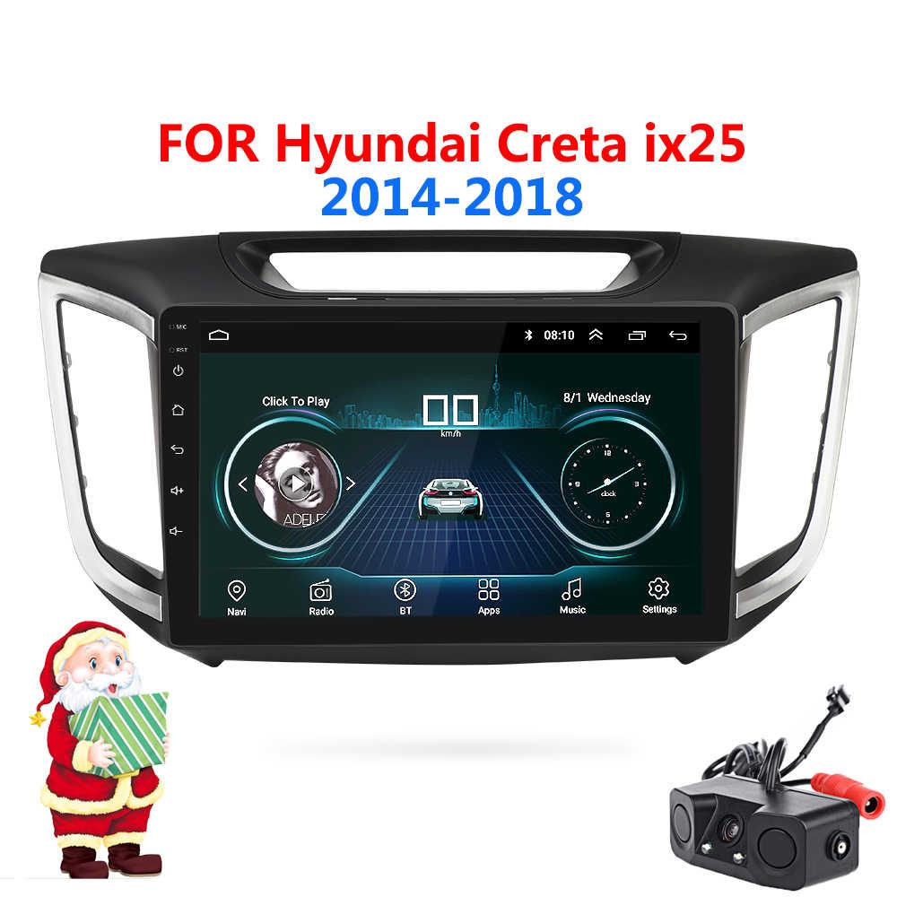 Android 8.1 Phát Thanh Xe Hơi 2Din Định Vị GPS Cho Hyundai CRETA IX25 Phát Thanh Xe Hơi 2014-2018 Tự Động Âm Thanh Stereo Wifi đa Phương Tiện