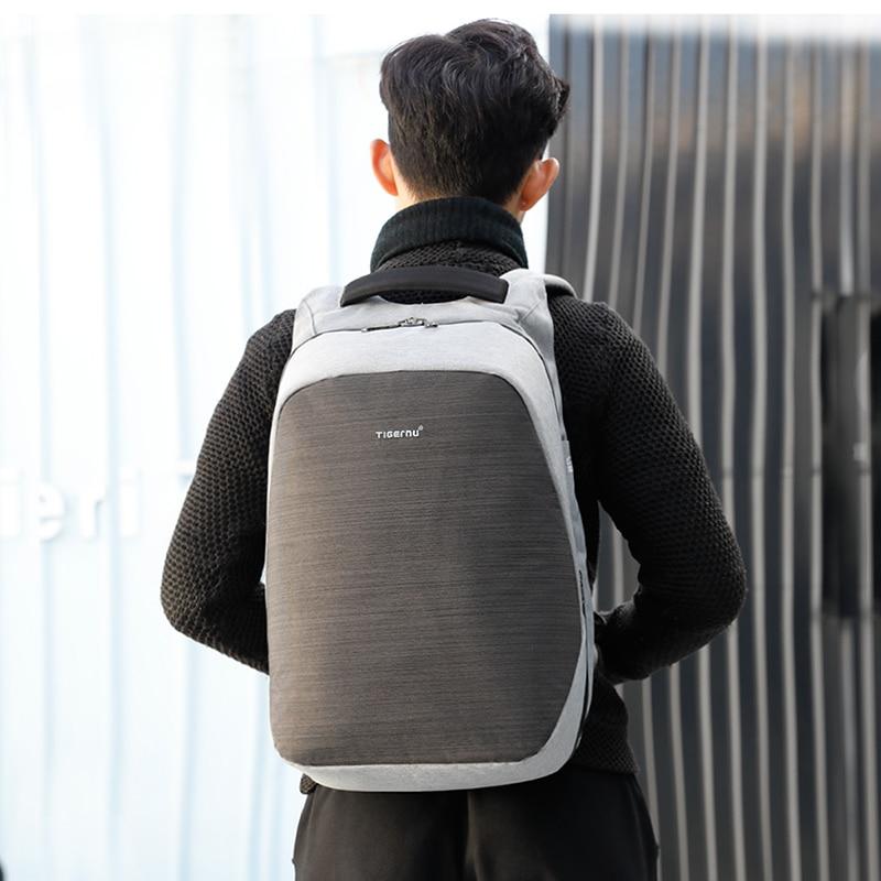 Tigernu Anti theft Bag Set Splashproof for 15.6 Inch laptop Crossbody Messenger Bags Fit 9.7 iPad with USB Earphone Port Mochila