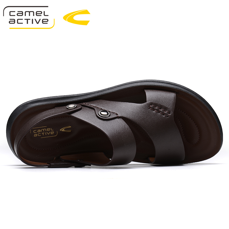 Camel Active Brand Summer Casual Male Sandals For Men Shoes Genuine Leather Quality Walking Beach Comfortable Designer Sandals 8