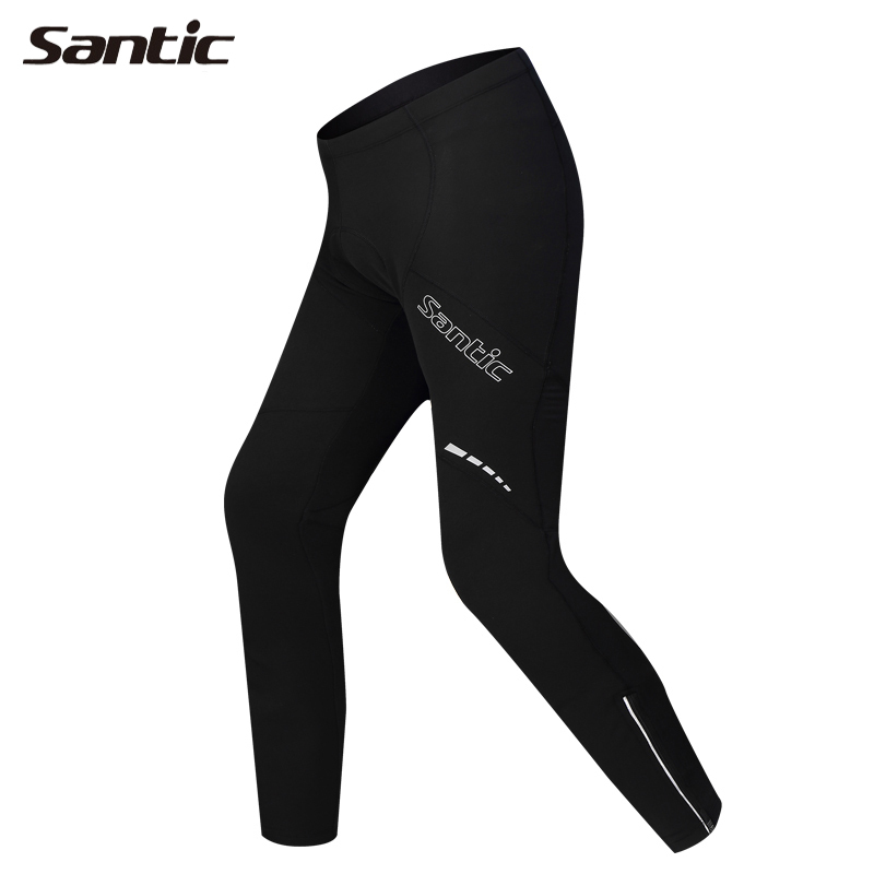 SANTIC Outdoor Sports Cycling Winter Fleece Men's Bicycle Pants-Compass Riding Bike Pants Anti-Sweat Quick Dry Cycling Tights nuckily ns357 men s quick dry outdoor cycling short pants black m