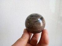 51mm Rare natural Black Sheen Moonstone Quartz Crystal Sphere Ball- Madagascar