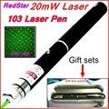 [RedStar] 20 МВт 103 Зеленый Красный Лазерная ручка ААА 7 # Батареи лазерная указка Звездное изображение cap Подарочный набор включают Розничной Металлический ящик