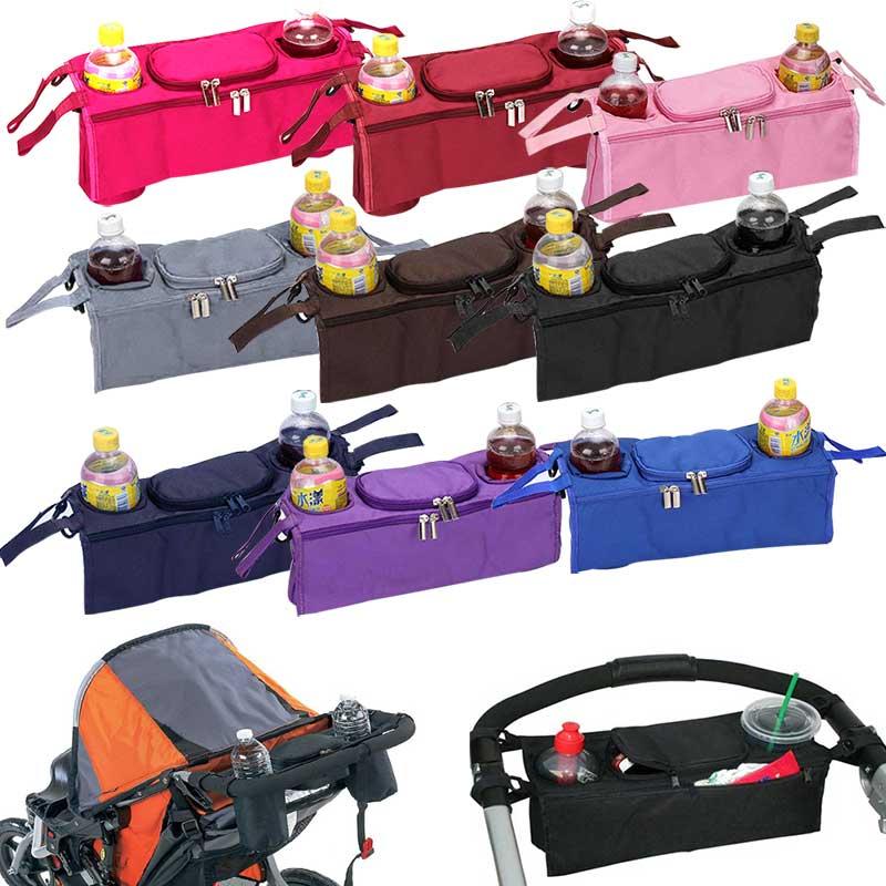Nouveau Bébé Poussette Sac Accessoires 3 en 1 Organisateur Infantile  Transport Refroidisseur Roue Sacs Suspendus Panier Porte-Bouteille BM bc28ec1230d