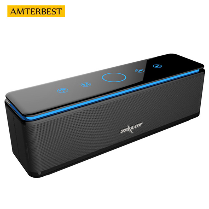 AMTERBEST S7 Portable Bluetooth Speaker Touch Control Wireless 4 Drivers Audio Home Theatre 3D Stereo System Computer Phones