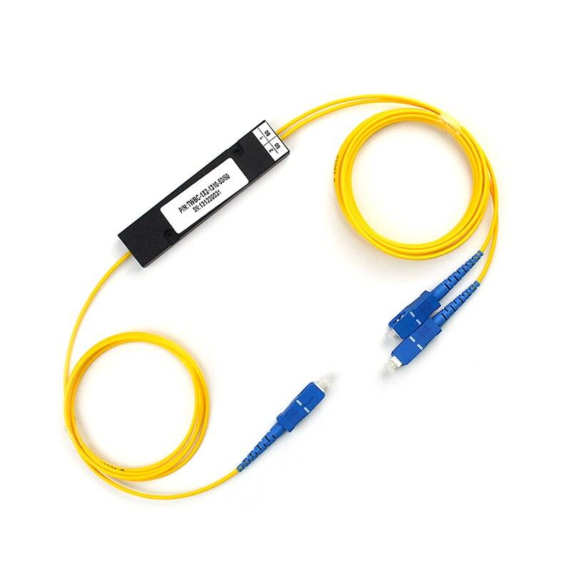 1x2 PLC Fiber Optic Splitter with SC/UPC Connector