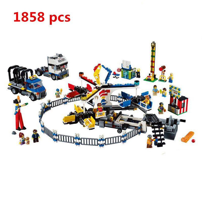 New Lepin 15014 Amusement Park The Carnival Model Building Blocks Set Compatible 10244 Architecture DIY Education Toys Gifts new lepin 23015 science and technology education toys 485pcs building blocks set classic pegasus toys children gifts
