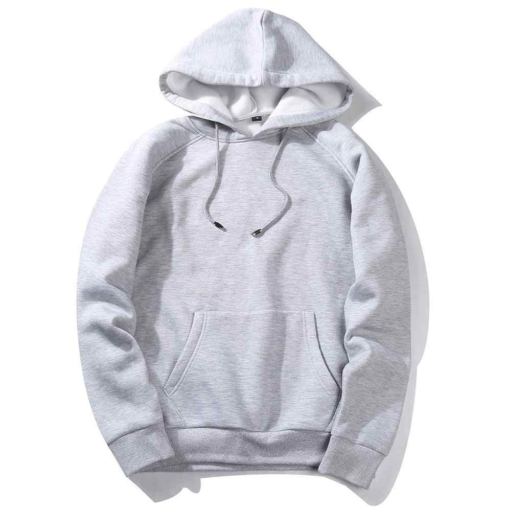 สีสัน Hoodies เสื้อผู้ชาย Streetwear หนาสบายๆสบายๆเสื้อผ้าฤดูหนาว Mens Hip Hop Solid ขนแกะ Man Hoody EU/US ขนาด