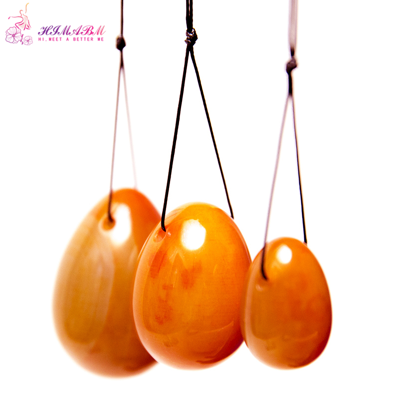 1 set = 3 pcs natural jade egg for kegel exercise pelvic floor muscles vaginal exercise yoni egg ben wa ball