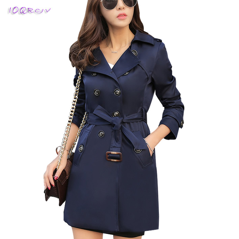 plus size 6XL fashion spring women Windbreaker Large size loose trench coat women elegant slim autumn female tops IOQRCJV T153