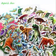 Апреля du 20 листов Мультяшные наклейки с картинками динозавров