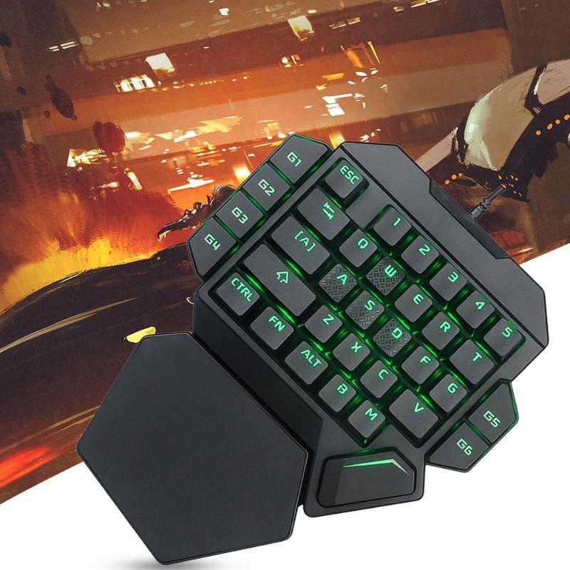 Image 5 - K50 Wired USB One Handed Keyboard Macro Definition Mechanical  Gaming Keypad Ergonomic Mechanical KeyboardKeyboards