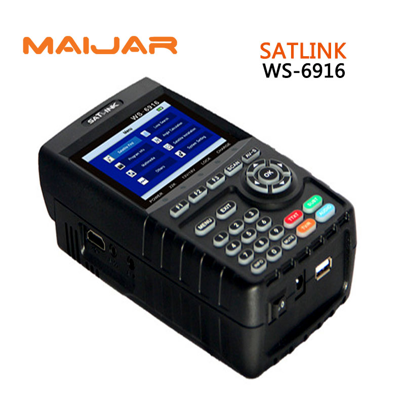 [GENUINE]Digital satellite finder meter WS-6916 Digital terrestrial signal satlink ws6916 3.5 Inch HD TFT LCD Screen finder original dvb t satlink ws 6990 terrestrial finder 1 route dvb t modulator av hdmi ws 6990 satlink 6990 digital meter finder