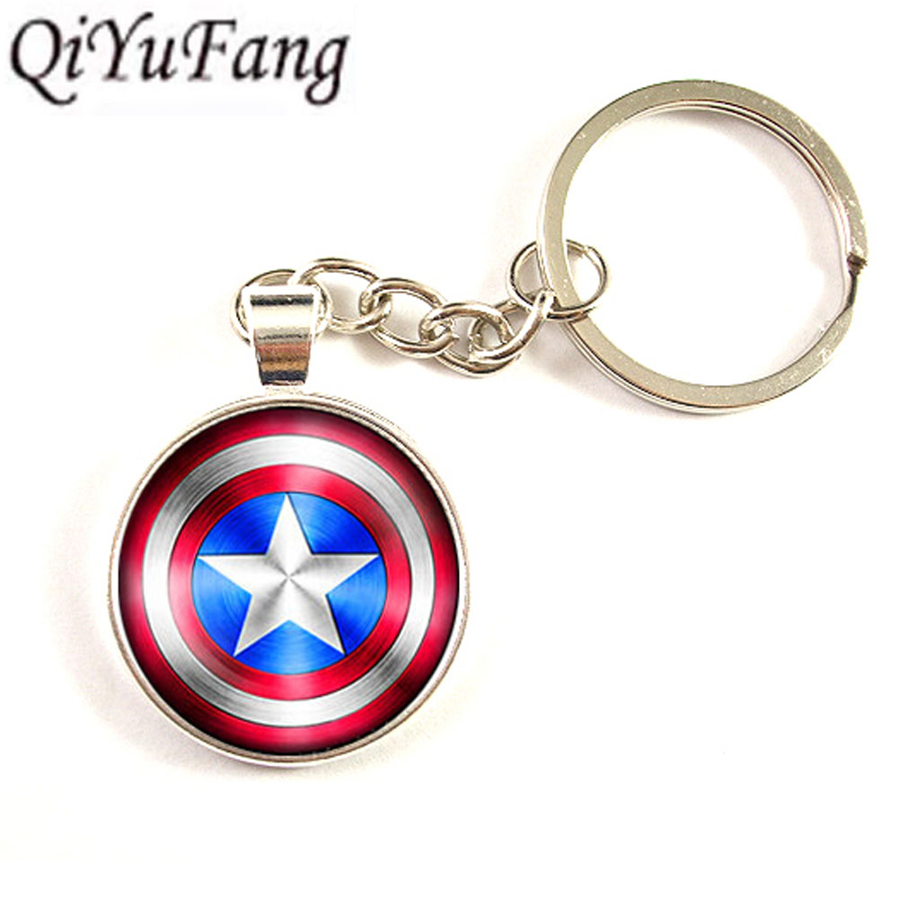 US Movie Captain America Shield Necklace 1pcs key chain Pendant Avengers Age of Ultron jewelry dr who keychain mens