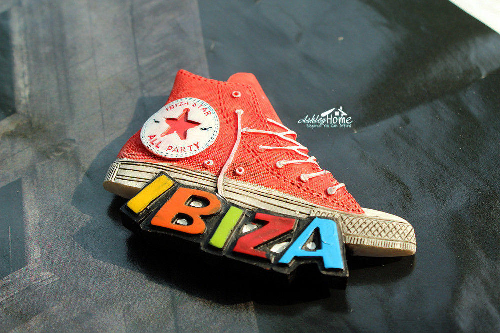 IBIZA Tourism Tourist Travel 3D Resin Fridge Magnet Plimsolls Craft GIFT IDEA