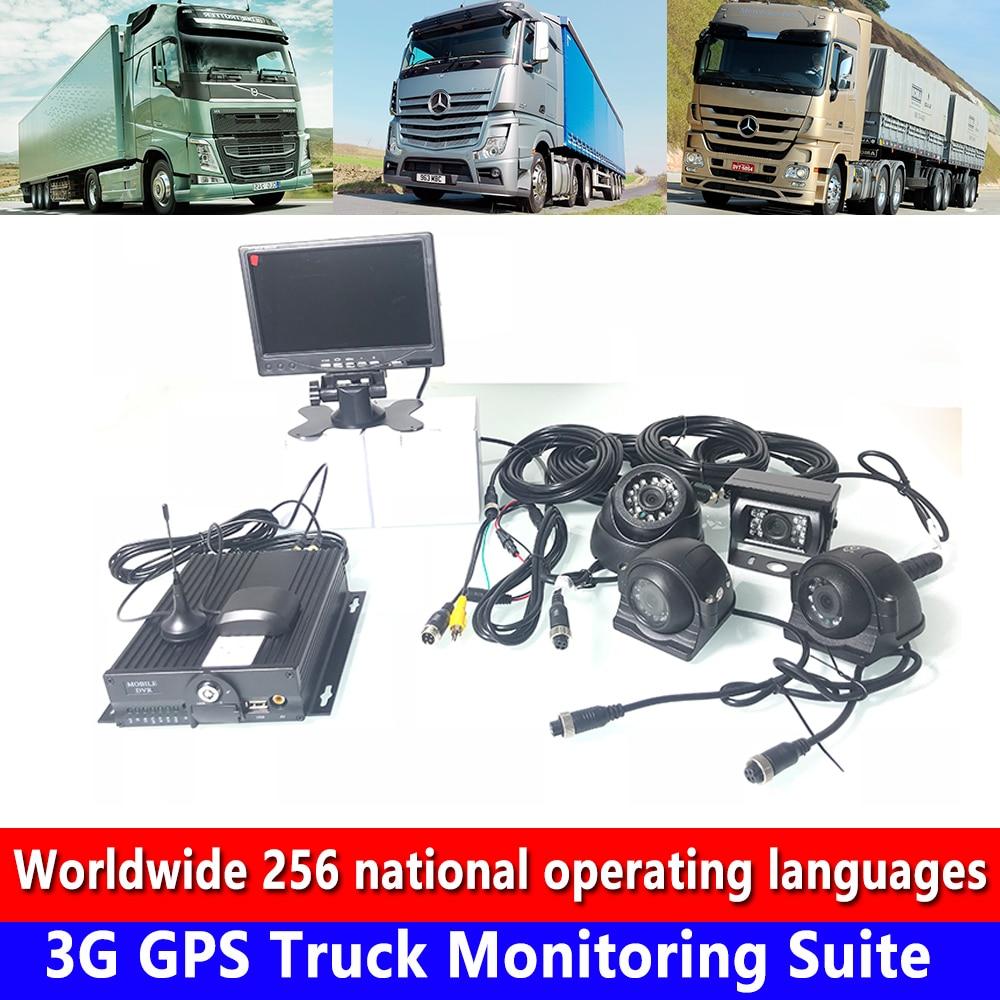 Ondersteuning 4 Kanalen Van Audio En Video Input Opname Ahd960p/720 P 3g Gps Truck Monitoring Kit Crane /prive Auto/muck