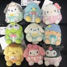47b633a231b28 10 sztuk/partia pluszowa torebka nowy Sanrio Hello Kitty My melody miękkie  Cinnamoroll pies nadziewane zabawki pluszowe torby wi.