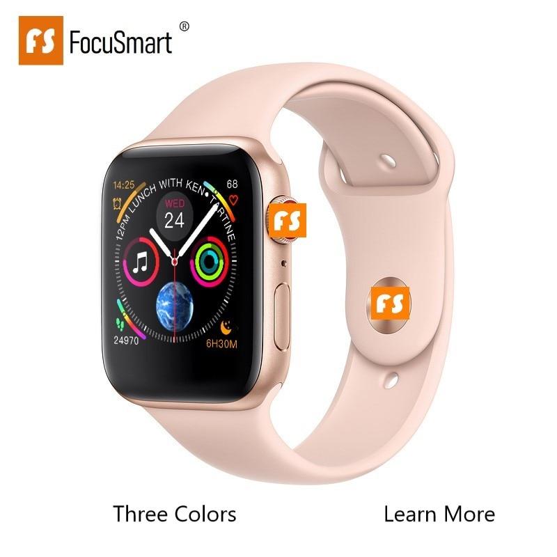 FocuSmart New Smart Watch 1:1 Series 4 Smart Watch Heart Rate Tracker ECG Smartwatch Alloy case for iOS Android PK iWotch3 4FocuSmart New Smart Watch 1:1 Series 4 Smart Watch Heart Rate Tracker ECG Smartwatch Alloy case for iOS Android PK iWotch3 4