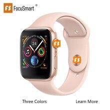 FocuSmart Новые смарт-часы серии 1:1 4 Смарт-часы трекер сердечного ритма ECG Smartwatch сплав чехол для iOS Android PK iWotch3 4