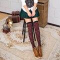 Invierno Cálido Patrón Deer Lindo Kawaii Sobre Calcetines de Caña Alta Stocking Medias para Las Mujeres de Algodón Casual Vestido de Cosplay