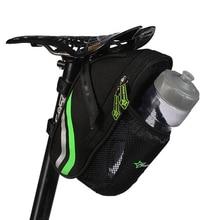 ROCKBROS Back Seat Bicycle Rear Bag Outdoor Cycling Mountain Bike Bags Nylon Bike Saddle Bag Kettle