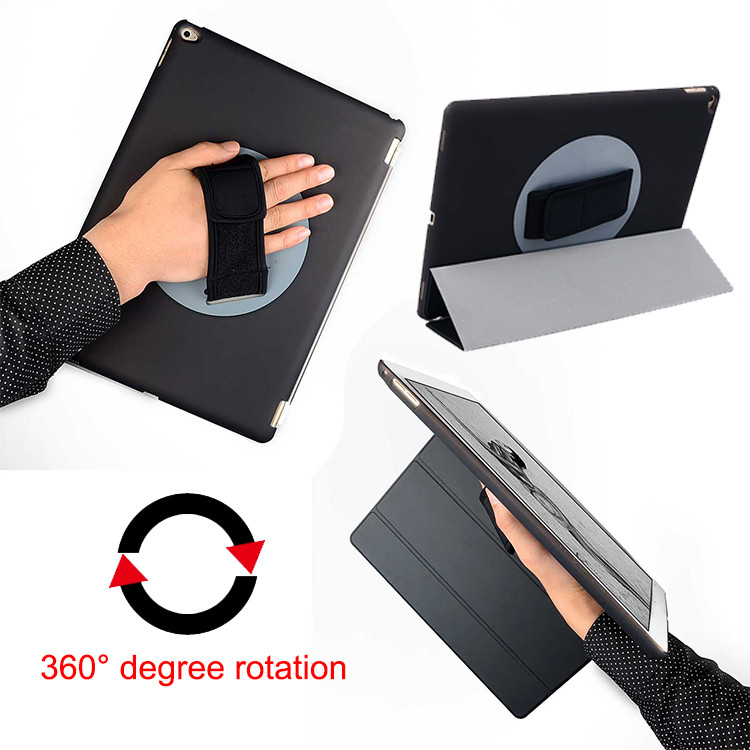 Hand shell For Apple iPad Pro 12.9 inch Tablet Protetive Case Cover 360 Degree Rotating PU Flip Leather Skin case cover high quality fashion leather case for ipad pro 12 9 case luxury 12 9 inch flip cover for ipad plus cover tablet pc shell skin