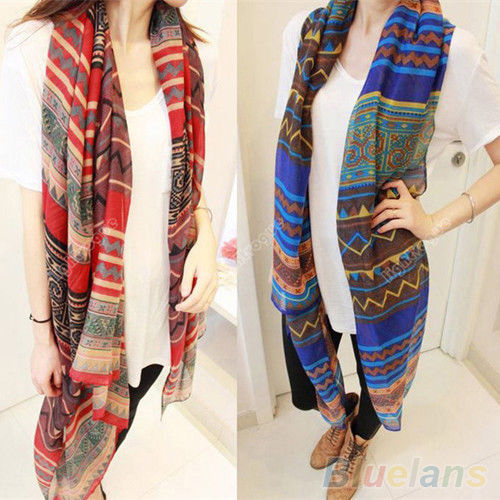 Hot Women's Long Print   Scarf     Wrap   Ladies Shawl Girl Large Pretty   Scarf   Tole 1MWR 7GA6