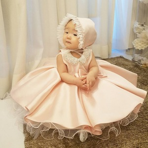 Image 3 - Childrens Princess bun dress dinner party evening dress girl birthday party dress New Beaded Bow Flower Dresses For Wedding