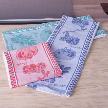 "100% Cotton 3 pcs Paket Restaurant Kitchen Toilet 3 Warna Jacquard Super Soft Kitchen Towel Cleaning Cloth Tea Towel 18 ""x 28"