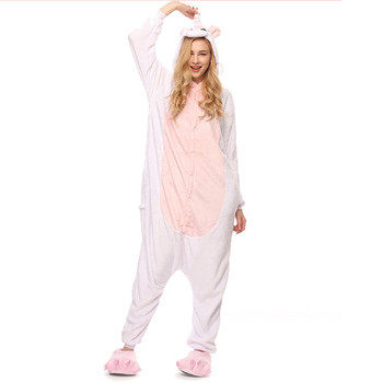 Cute Pink Unicorn unisex adults flannel animal Pajamas cosplay Pijama Onesies Pyjamas women Sets sleep Robe pajamas