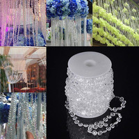 99 Ft Garland Diamond Strand Acryl Crystal Bead Bruiloft Decoratie