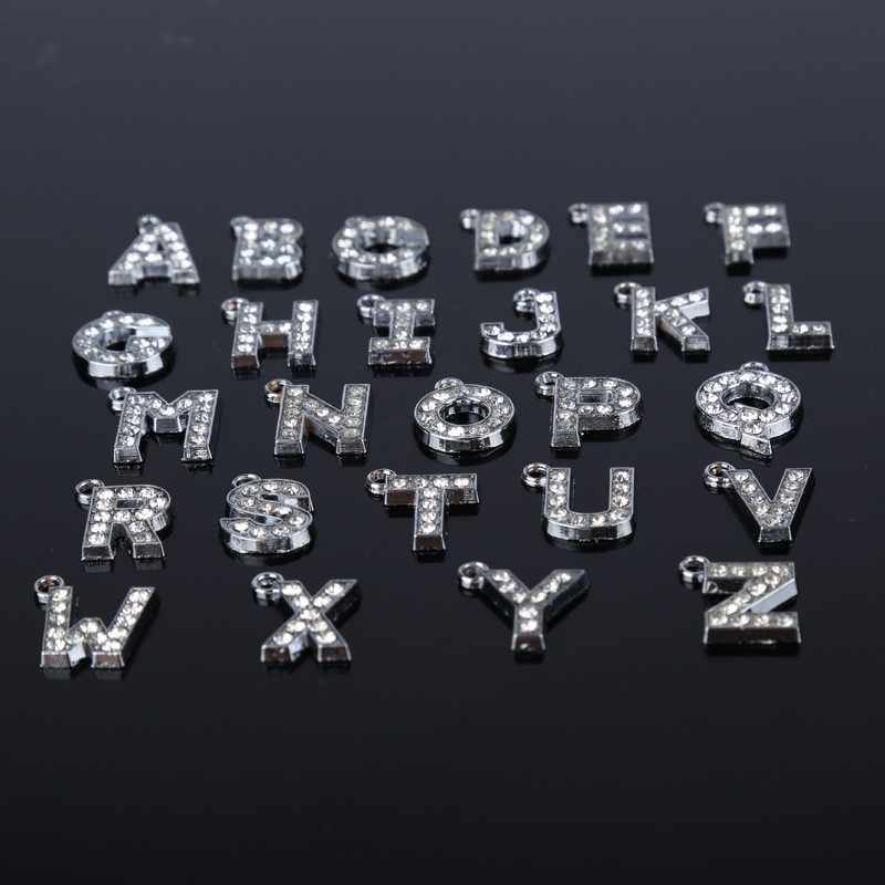 26 English Letters pendant necklace Women stainless steel 50 cm Chain Long Necklaces Pendant boho corar