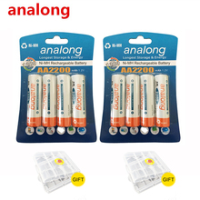 High Capacity 8Pcs AA Rechargeable Batteries 1 2V aa 2200mAh Ni MH Pre charged Battery 2A