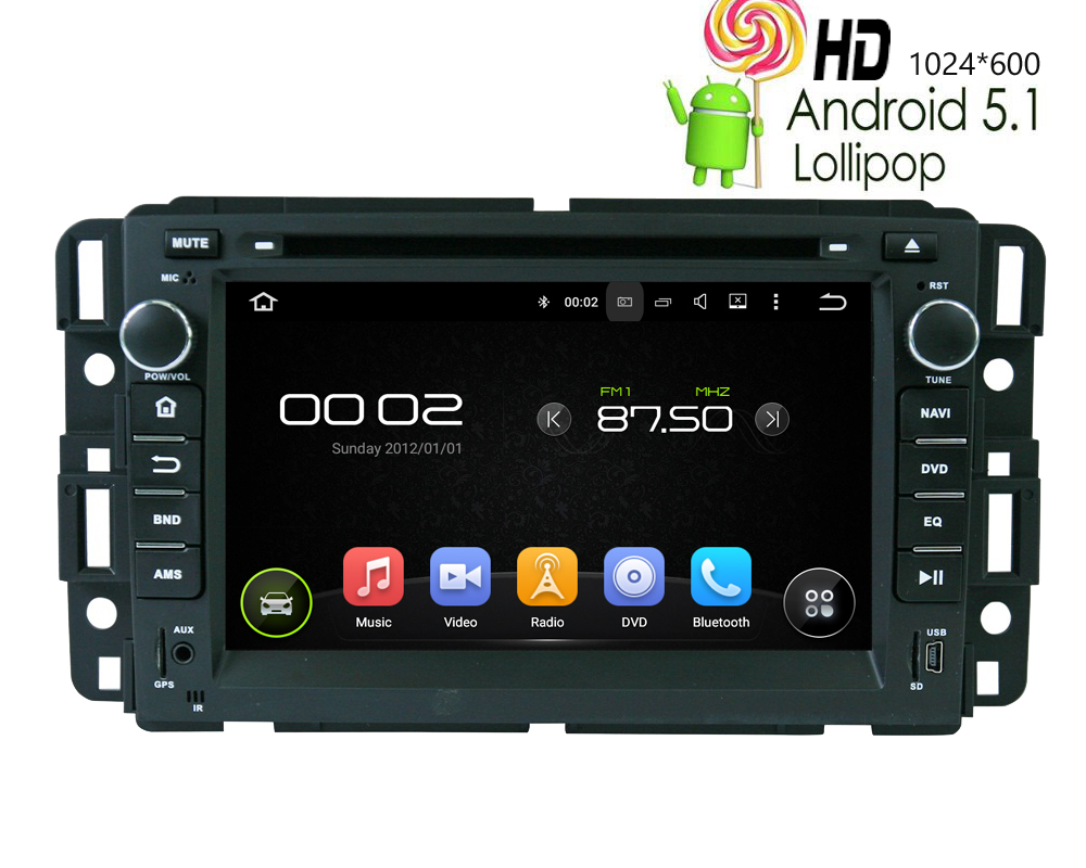Android 7 1 Autoradio GPS Satnav DVD Stereo For Chevy Silverado Tahoe GMC Saturn