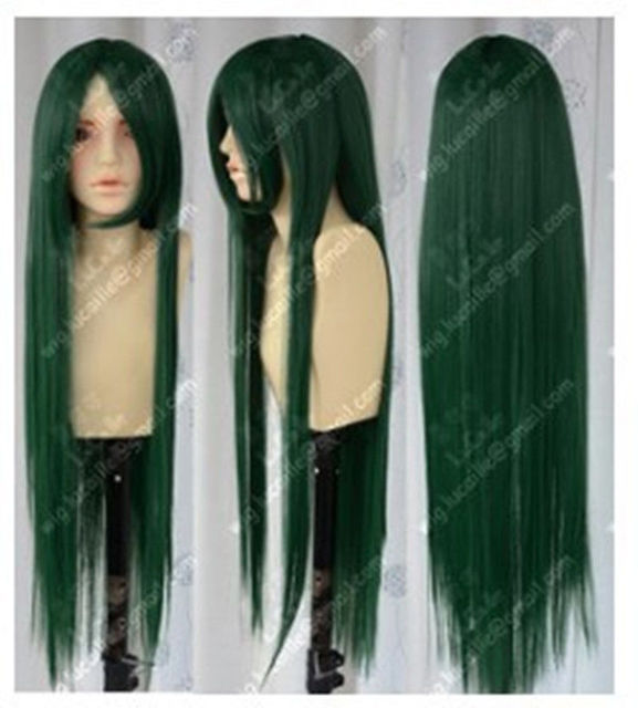 Hot Sell! New Long Dark Green Cosplay Party Wig 80CM AALD1315
