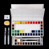 48 цвет сплошной цвет воды краски книги по искусству ing офисные школьные принадлежности портативный набор акварели ст