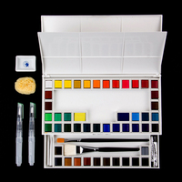48 Color Solid Watercolor Paint Art Painting Office School Supplies Portable Water Color Set Artist Painting